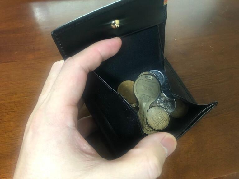 ポールスミスパスケースの小銭入れ部分